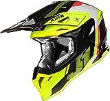 Just J39 Casco de Motocross, Hombre, Color Amarillo y Rojo, L (59/60)