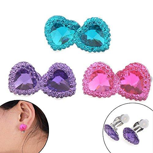 BraveWind Clip-on oorbellen oor Clip meisjes spelen oorbellen voor kinderen peuter kleine meisjes partij gunst