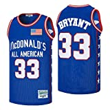 kekambas Men's McDonald's All American 33 Bryant Basketball Jersey Stitched Blue Size XL