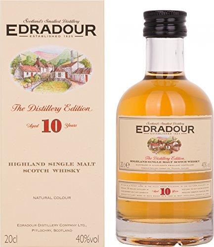 Edradour 10 Jahre Highland Single Malt |Whisky |1x0.2L |Schottland |Reifung in Sherry-Fässern |Aus der legendären Edradour Destillerie |Mild