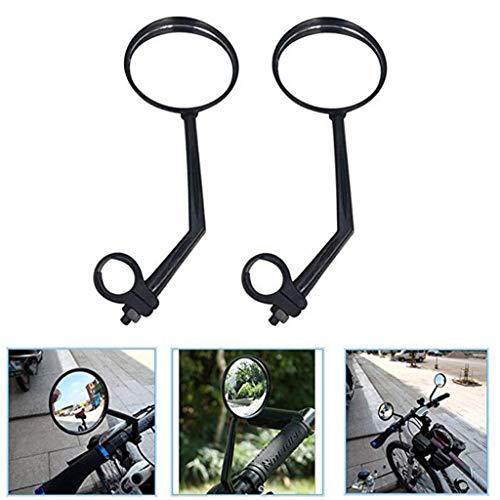 AQWWHY Specchietti retrovisori 1pair per Bici, Rotazione 360  Adatta per Mountain Bike, Fuoristrada e Bici a Scatto Fisso con Manubrio 1,8 cm - 2,2 cm di Diametro
