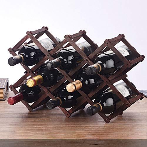 Loao Faltbar Weinregale Holz Für 10 Flaschen Zuhause,Büro Ktiche Bar Restaurant Natürlich...