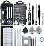Juego de destornilladores de precisión,E·Durable 122pcs Kit de herramientas de reparación magnética para iPhone Series Mac iPad Tablet Laptop Xbox Series PS3 / PS4 Nintendo Anteojos Reloj