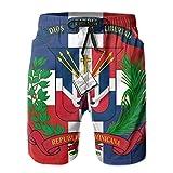 D-WOLVES Dominican Republic Flag Men's Quick Dry Swim Trunks,...