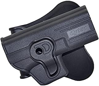 BASTION Tactical Holster OWB Holsters for for Glock 17 19 22 23 31 32 Models Only, Trigger Release Paddle Holsters with Adjustable Cant Military Grade Polymer Holster 360 Degrees Rotation