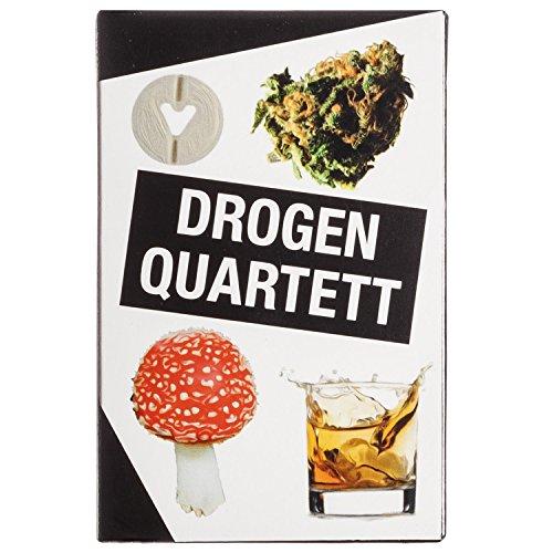 GOODS+GADGETS Drogen Quartett - Das ultimative Rauschgift Kartenspiel Spielquartett