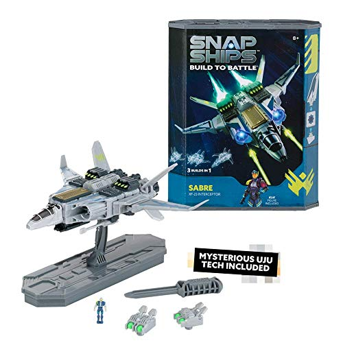 Snap Ships Sabre XF-23 Interceptor -- Construction Toy for Custom Building and Battle Play -- Ages 8+