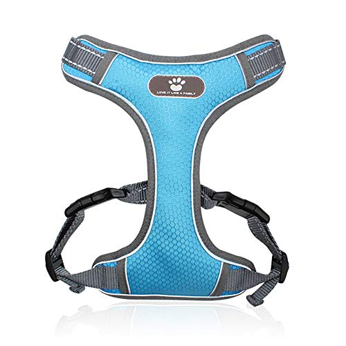 Yuedie Step-in Air Big Dog Vest Harness,No Pull & NO Choke Harnesses for Dogs Premium Stylish Tactical Dog Training Harness Leash Set for Daily Easy Control for Blue XL
