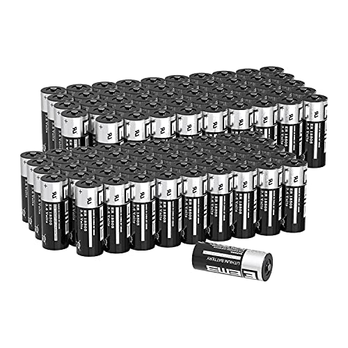 100X EEMB ER18505 Nonrechargeable 3.6V Lithium Battery Li-SOCL₂ 4100mAh High Capacity UL Certified Single-Use 3.6V Lithium Thionyl Chloride Battery DO NOT Charge Battery