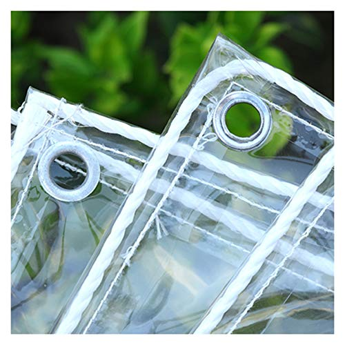 GYYARSX TarpTarpaulins Glass Clear Tarpaulin Waterproof Heavy Duty Foldable Thicken PVC Transparent Soft Glass Plastic Cloth, Anti Freezing Anti-Aging, Used for Camping Flowers, 21 Sizes
