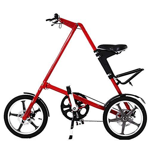 WHKJZ Aluminio Bicicleta Plegable Marco 14/16