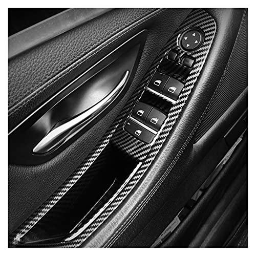 JIABIN Songz Store Coche Interior de Mango para-BMW F10 F11 5 Series Panel de Puerta Tapa Tirador Trim Torre DE Fibra DE Carbono ARMANTE HANGE Barra Porte (Color : Gloss Black)