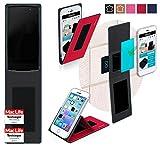 reboon Hülle für Alcatel Idol 4 Pro Tasche Cover Case Bumper | Rot | Testsieger