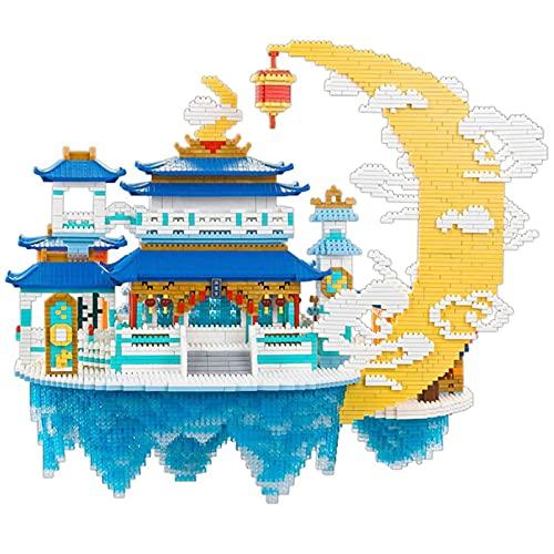 XDLH Kits De Bloques De Arquitectura De Estilo Chino, (8000 PCS) Conjunto De Edificios Modelo, Palaces Moon Palace 3D Puzzles DIY Juguetes Educativos