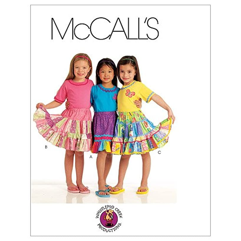 McCall's Patterns M5841 Children's/Girls' Skirts and Appliques, Size CL (6-7-8)
