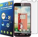 3x LG Optimus L70 D325 MS323 (MetroPCS) Premium Clear LCD Screen Protector Guard Shield Cover Film Kit. (GUARMOR Brand)