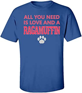 Funny Cat All You Need is Love and A Ragamuffin - Kids T-Shirt