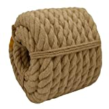 CRAYZA Decorative Jute Rope (1.5 Inch x 20 Feet) Twisted Manila Rope Thick Hemp Rope for Deck Railings Nautical Landscape Project