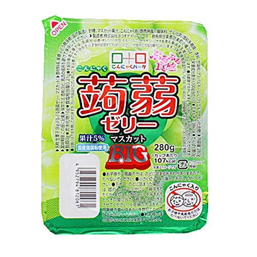 ヨコオデイリーフーズ ぷるぷる食感蒟蒻ゼリーBIG マスカット こんにゃくゼリー 280g 36個 1箱