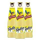 Kingfisher Radler - Non Alcoholic Malt Drink - Lemon Glass Bottle Pack of 3, x 300 ml