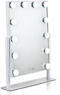 Waneway Espejo Maquillaje Iluminado con 12 X 3W Bombillas LED Ajustable Y Diseño De Control Táctil Espejo de Tocador Mesa...
