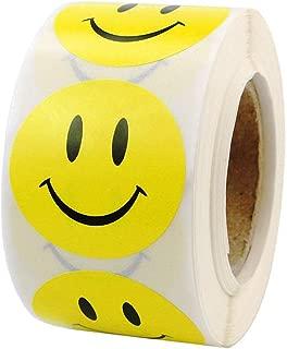 Shreem85 Yellow Smiley Face Happy Stickers 1.5