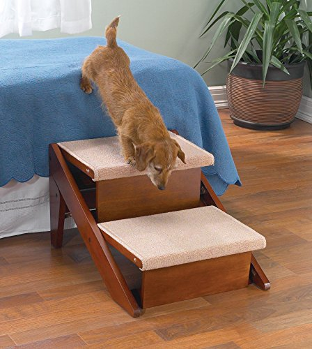 Pet Studio Pine Frame Dog RampSteps, 2 Step