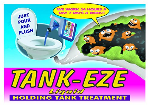 Tank-Eze AMERICA'S BEST RV-Camper-Boating-Portable Chemical Toilet Treatment (24-Tablets)