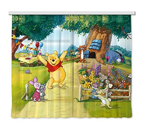 Gardine/Vorhang FCS xl 4309 Kinderzimmer Disney Winnie The Pooh