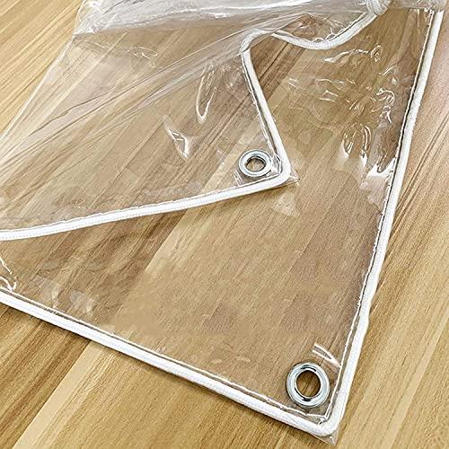 WUZMING Lona Transparente con Ojales Lona De Protección Impermeable PVC Resistencia Al Desgarro por Patio Mueble Cubierta Vegetal (Color : Claro, Size : 2.2x10m)