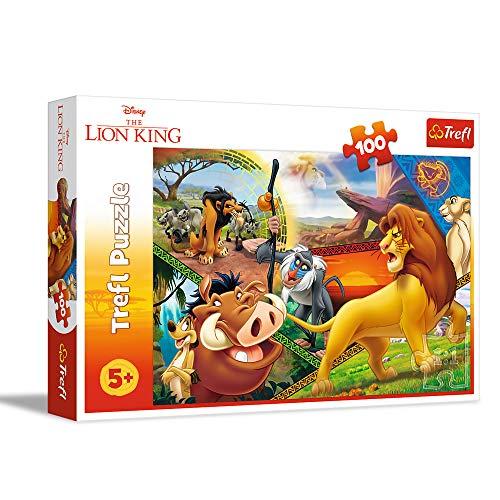 Trefl-Die Abenteuer von Simba, Disney König der Löwen puzzle, Colore 100 pezzi, per bambini dai 5 anni in su, 16359
