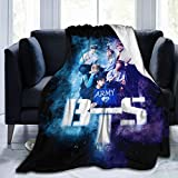 BTS Blanket Army Warm Hugs Ultra Soft Throws Lightweight Couch Sofa Office Fuzzy Blanket forTraveling Camping Home