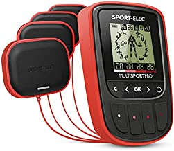 Sport-Elec Multisport Pro Nuevo con cinturón Abdominal ergonómico Electroestimulador, Unisex Adulto, Rojo, Talla Única