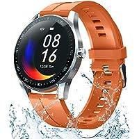 Garinemax Smart Watch Fitness Tracker with Heart Monitor (Orange)