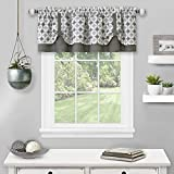 "Achim Home Furnishings Double Layer Pick Up Valance Callie Window Curtain, 58"" x 14"", Grey"