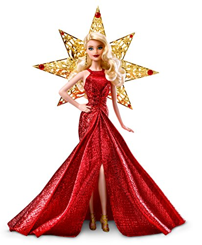 Barbie Barbie-DYX39 Felices Fiestas, Rubia, Color (Mattel