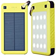 USB C Solar Battery Charger, ZeroLemon 26800mAh Solarjuice USB C Solar Battery Charger Power Bank with Quick Charge 3.0 Waterproof Shockproof Rugged Charger for iPhone, Samsung, Switch and More
