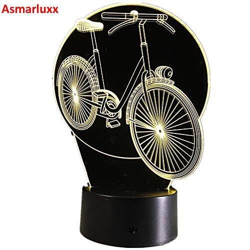 Coole Fahrrad Fahrrad Party Nachtlicht 3D LED Tischlampe Kinder Geburtstagsgeschenk Nachtzimmer Dekoration