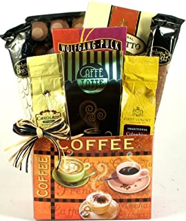 Caffe Delicioso Gourmet Coffee Lovers Coffee Gift Basket | Great Fathers Day Gift for the Coffee Lover! (Gourmet Coffee)