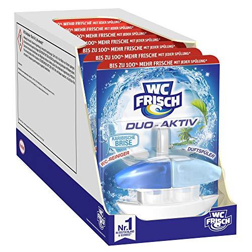 WC FRISCH Duo-Aktiv Karibische Brise, WC-Reiniger und Duftspüler, 8er Pack (8 x 1 Stück)