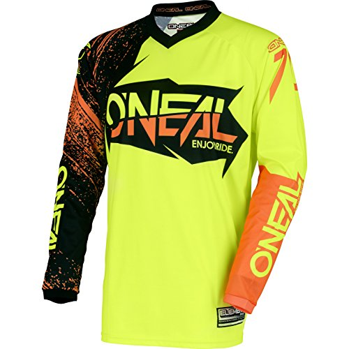 O'NEAL Element Burnout FR Jersey Trikot lang gelb/schwarz/orange 2018 Oneal: Größe: M (48/50)