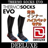 DEELUXE / デーラックス THERMO SOCKS EVO ソックス メンズ レディース M BLACK-RED
