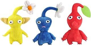 Jouet en Peluche 3 Pcs//Lot Pikmin Jeu Jouet en Peluche Poup/ée D/écor /À La Maison Rouge Bleu Jaune Fleurs Enfants Cadeaux danniversaire