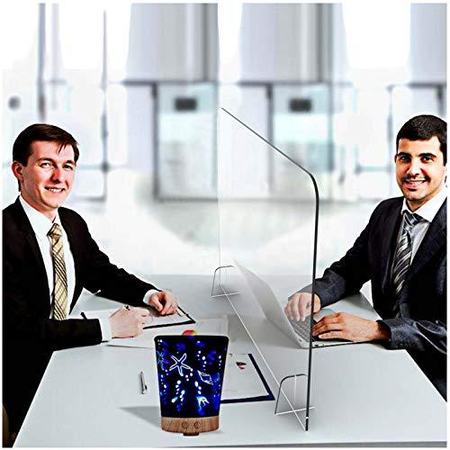 INMAKER Pexiglass Shield for Desk, Sneeze Guard for Counter, Plexiglass Barrier for Counter, 32'W 24'H