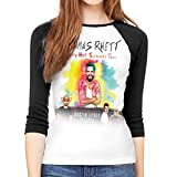 Thomas Rhett Life Changes Woman's Raglan 3/4 Length Sleeve Baseball Tee T-Shirt Ladies Fashion Clothing S Black