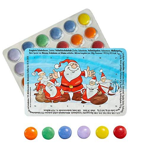 Kleinster Adventskalender Piccolo Calendario dell'Avvento Mondo Divertenti Babbo Natale cioccolatini – con l'acquisto di 3 calendari Ci Sono i 4 Gratis.