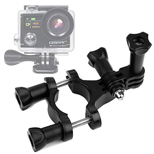 DURAGADGET Supporto Bicicletta + Adattatore per Action Camera iLifeSmart | gaddrt 1080P | taottao | Pruveeo |Campark ACT76 4k