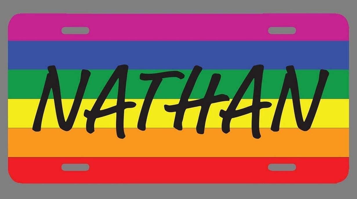 yiliusu Outstanding Stefanie Name Pride Flag Plate Style License Tag