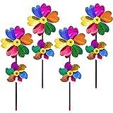 Bost 4 Molino de Viento de Colores, Molinillo de Viento para Jardin, Decoración...