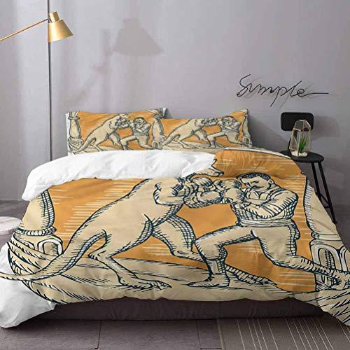 Gacend King - Juego de ropa de cama de 3 piezas, diseño de canguro australiano para niños, niños y adolescentes